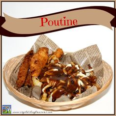 Make your own Canadian poutine! The squeekiness of the cheese curds mixed with the hot, rich gravy over golden French fries is a treat for the taste buds. Retro Recipes, Vintage Recipes, Great Recipes, Favorite Recipes, Canadian Poutine, Canadian Food, Canadian Recipes, Poutine Recipe, Side Dish Recipes