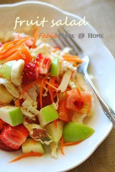 Fruit salad (somtam dressing) ส้มตำผลไม้