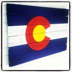2'X3' Colorado Flag painting on reclaimed wood by FrozenKiss