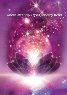 """""""Where attention goes, energy flows."""" ★   As quoted from Eckhart Tolle's book entitled """"Oneness With All Life:"""" -- """"Be present as the watcher of your mind, of your thoughts and emotions, as well as your reactions in various situations. Be at least as interested in your reactions as in the situation or person that causes you to react.""""  •.•.¸ღ¸☆"""