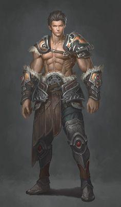 Human Brawler Warrior - Pathfinder PFRPG DND D&D d20 fantasy