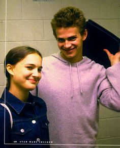 Behind the Scenes of episode 2. Hayden Christensen and Natalie Portman.