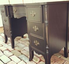 Mahogany turned black. Furniture painting & distressing. « Furniture Painting Techniques « Alchemy Fine Living