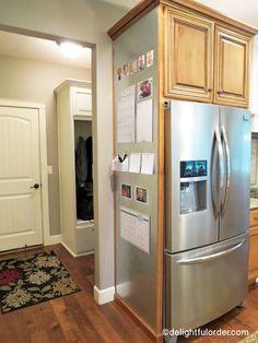 My New Kitchen Command Center (Delightful Order) Kitchen On A Budget, Kitchen Redo, New Kitchen, Kitchen Storage, Order Kitchen, Kitchen Cabinet Design, Interior Design Living Room, Kitchen Cabinets, Cupboards