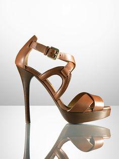 Equestrian Platform Sandal - Sandals  Shoes - RalphLauren.com