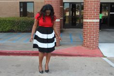 Black and White Skater Skirt from The Modest Lady Boutique