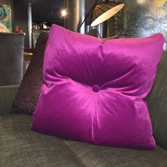 Feather filled silk cushion with button. Designed and made in Australia. jimmy by Jimmy Possum