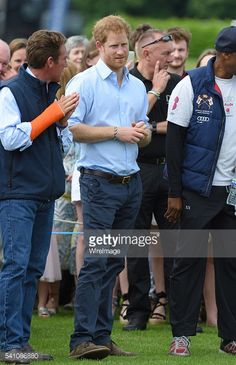 Prince Harry attends the Maserati Royal Charity Polo Trophy during the Gloucestershire Festival of Polo at Beaufort Polo Club on June 18, 2016 in Tetbury, England.