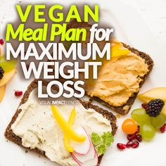 Diet Plan To Lose Weight Vegan Meal Plan for MAXIMUM WEIGHT LOSS - If you are considering a vegan diet, there are ways to set it up for maintenance or specifically for weight loss. Weight Loss Meals, Diet Plans To Lose Weight, Fast Weight Loss, Healthy Weight Loss, Vegan Weight Loss Plan, Losing Weight, Fat Burning Drinks, Fat Burning Foods, Health Blog