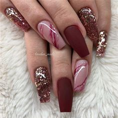 Acrylic Coffin Nails Designs In Fall; - Acrylic Coffin Nails Designs In Fall; Acrylic Coffin Nails Designs In Fall; Matte Nail Art, Best Acrylic Nails, Spring Nails, Summer Nails, Fall Nails, Hair And Nails, My Nails, Neon Nails, Glitter Nails