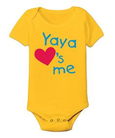 Another great find on #zulily! Yellow 'Yaya Loves Me' Bodysuit - Infant by It's Just Me #zulilyfinds