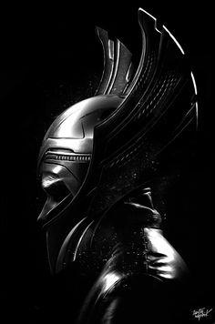 Thor in Helm by Nicolas Obery/Fantasmagorik