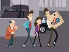 Pop Culture-Inspired Animated GIFs by Chris Phillips – Inspiration Grid South Park, Jerry Seinfeld, Seinfeld Meme, Seinfeld Festivus, Seinfeld Quotes, 2d Character Animation, Fan Gif, George Costanza, Animated Gifs