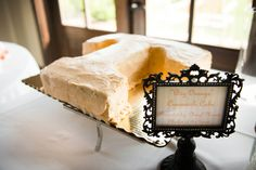 Groom's Cake presented by Mother of the Groom (T for Tennessee)....vintage frame (Hobby Lobby)