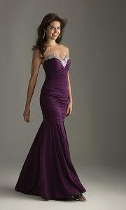 long purple homecoming prom dress
