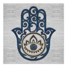 Hamsa Hand Tattoo, Hand Tattoos, Hamsa Art, Cancer Tattoos, Life Poster, Hand Of Fatima, Blue Wood, Wood Canvas, Canvas Prints