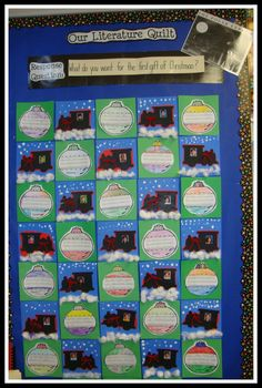 grade did polar express last year, this would be so cute to add this year! The Polar Express December Quilt Polar Express Crafts, Polar Express Activities, Polar Express Theme, Christmas Activities, Classroom Activities, Classroom Ideas, Christmas Ideas, Holiday Ideas, Classroom Crafts