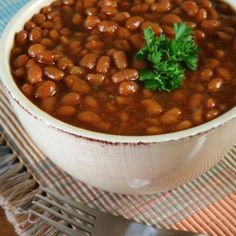 Southwestern-style Baked Beans | The perfect BBQ side dish! bmbeans.com #Recipe #BBQ #BakedBeans