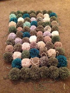 Initial layout for my forthcoming pompom rug
