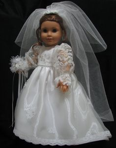 Another bridal gown by Shirley Fomby. Doll Clothes By Shirley SOLD