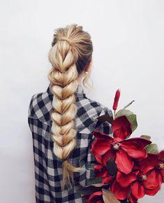 Pull Through Braid Hair Tutorial – Kassinka Hair Lights, Light Hair, Cool Braids, Braids For Long Hair, Braids Easy, Braided Hairstyles Tutorials, Easy Hairstyles, Amazing Hairstyles, Pull Through Braid