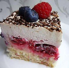 Ovocný zákusok s mascarpone Sweet Desserts, Sweet Recipes, Pie Dessert, Dessert Recipes, Superman Cakes, Czech Recipes, Sweet Cakes, No Bake Cake, Nutella