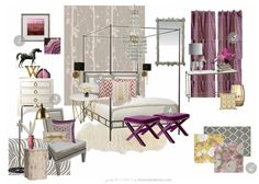 6 Tips for Decorating with Radiant Orchid, Pantone's Color of the Year – MJ Barragan – Trend Purple Master Bedroom, Pretty Bedroom, Master Bedroom Design, Feminine Bedroom, Master Bedrooms, Master Suite, Decorating Your Home, Interior Decorating, Interior Design
