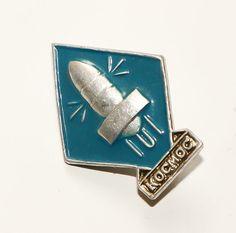Soviet Badge Moon Exploration Cosmos Exploration Vintage Space