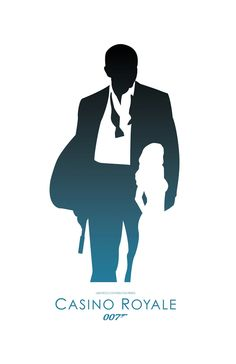 James Bond 007 Inspired Minimalist Poster by ThePixelEmpire