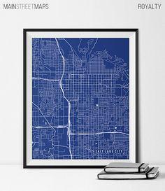 Salt Lake City Utah State Map Art Print by MainStreetMaps on Etsy https://www.etsy.com/listing/226870089/salt-lake-city-utah-state-map-art-print?ref=shop_home_active_24