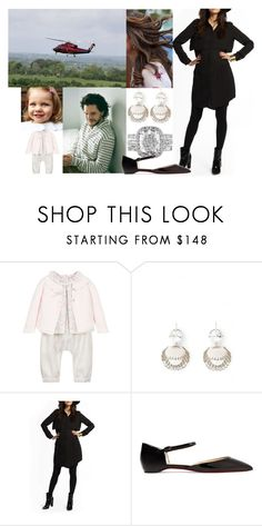 """""""Saying goodbye for her family and then taking a helicopter to Carlton Towers"""" by alexandraofwales ❤ liked on Polyvore featuring Tartine et Chocolat, Miu Miu, Loyal Hana and Christian Louboutin"""