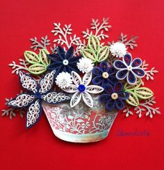 Quilling. Blue & White. By Canan Ersöz.