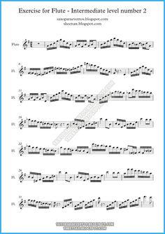 Segunda entrega de los ejercicios gratis para flauta nivel intermedio. Ejercicio para flauta nivel intermedio número 2.