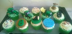 John Deere Tractor Cupcakes...and a little horse too
