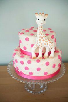 Sophie The Giraffe Baby Shower Cake .