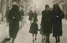 Muslims and Jews walking together in German occupied Bosnia.