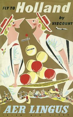 Fly to Holland by Viscount / ca. 1957