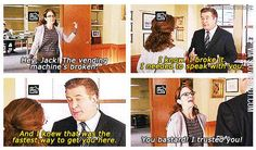 How to get Liz Lemon's attention.