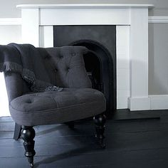 Tufted, turned-leg chair