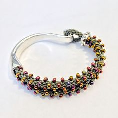 Kumihimo Hook Bracelet workshop scheduled at Bead & Button Show 2016. kit available through http://www.ancientmoon.com/collections/820878-kumihimo-kits