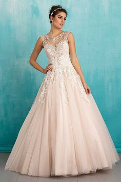 Romantic ball gown wedding dress. See photos of Allure Bridal's Spring 2016 wedding dress collection.