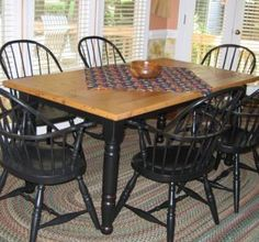 Wormy Chestnut Farm Kitchen Table Table And Chairs, Dining Table, Dining Room, Wormy Chestnut, Painted Kitchen Tables, Farm Cottage, Woodworking Bench, Woodworking Projects, Primitive Kitchen