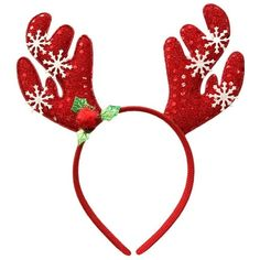 KEPATO Christmas Reindeer Antler Headband Xmas Party Flower Feather... (€5,91) ❤ liked on Polyvore featuring accessories, hair accessories, christmas headbands, flower headbands, party headbands, feather headbands and flower crown headband