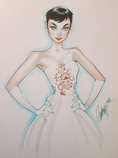 Audrey Hepburn by J. Scott Campbell *