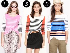 Weekly Weakness – J.Crew Striped Tops are all the rage today over at Poor Little It Girl!