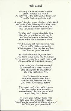 This is a photo of Fabulous Poem the Dash Printable
