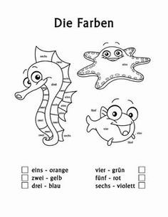 Die Farben color by number worksheets and coloring pages are a great tool for teaching German Colors to beginning German students. Designed for children in Kindergarten, 1st Grade, 2nd Grade and 3rd Grade, these coloring pages introduce basic German color names.
