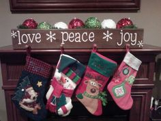 New stocking holder! LOVE. Nice weekend project.