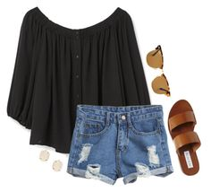 """""""#193 Ice Cream At The Park"""" by ultimateprep ❤ liked on Polyvore featuring MANGO, Steve Madden, Ray-Ban and Kendra Scott"""