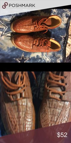 Men's shoes Men's shoes with ostrich pattern. Size 12 like new carreta Shoes